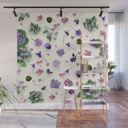 Delicate Violets Wall Mural