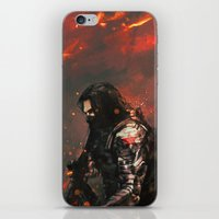 blood iPhone & iPod Skins featuring Blood in the Breeze by Alice X. Zhang