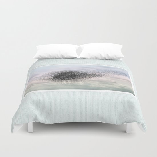 Swooping and looping Duvet Cover