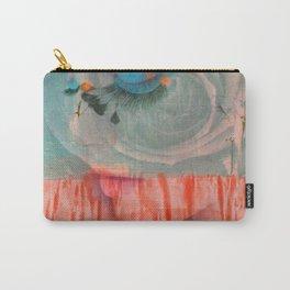 lavender, blue & peach portrait Carry-All Pouch
