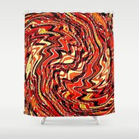 agate Shower Curtains featuring Fire Agate by David Lee