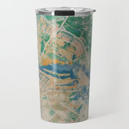 Amsterdam, the watercolor beauty Travel Mug
