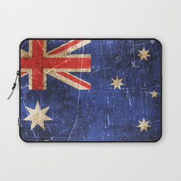 Vintage Aged and Scratched Australian Flag Laptop Sleeve