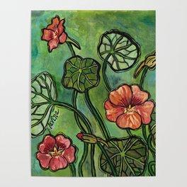 In the Garden ~ Nasturtium Poster