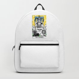 Floral Tarot Print - The Chariot Backpack