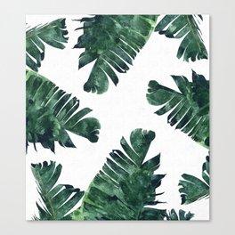 Banana Leaf Watercolor #society6 #buy #decor Canvas Print