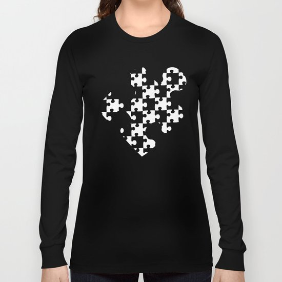 Checkerboard Puzzle Pieces Long Sleeve T-shirt