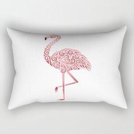 Funky Tribal Flamingo Rectangular Pillow