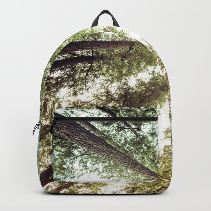 Green Forest Sky Trees Backpack