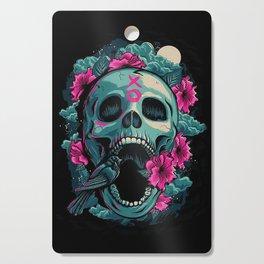 Inflorized Skull Cutting Board