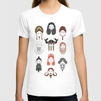 middle earth T-shirts featuring The Unwritten Lady Dwarves of Middle Earth by geeksweetie