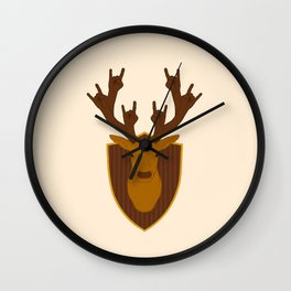 Rock Stag Wall Clock