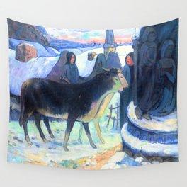 Gauguin Christmas Night Wall Tapestry
