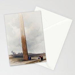 Obelisk of Heliopoli  by David Roberts (1796-1864) Stationery Cards