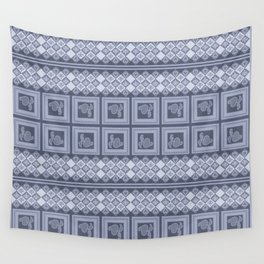 Ornament color blue . Wall Tapestry