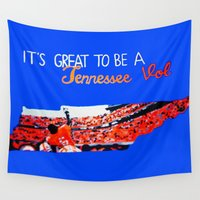 tennessee Wall Tapestries featuring Tennessee Volunteers by megan matthews