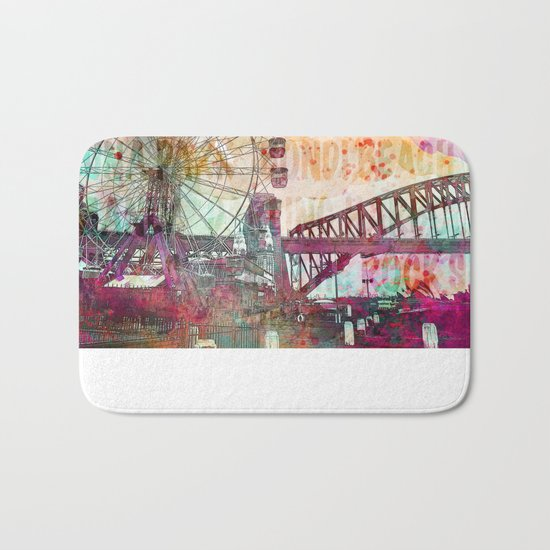 Sydney Luna Park Ferris Wheel Bath Mat