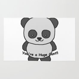 Panda says you're a huge cunt Rug