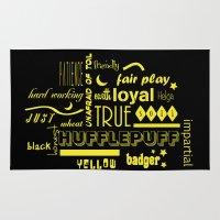 hufflepuff Area & Throw Rugs featuring Hufflepuff by husavendaczek