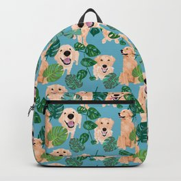 Golden Retriever Tropical  Backpack