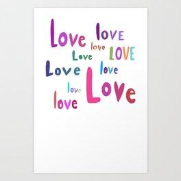love love love love love love love love love love Art Print