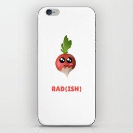 You Are Pretty Rad(ish) Cute Radish Pun iPhone Skin