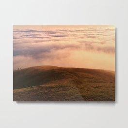 Couple in the Distance on Mt Tamalpais Metal Print