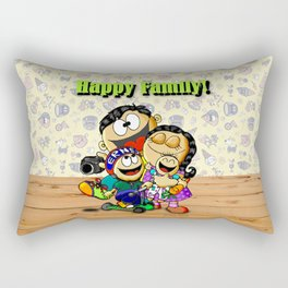 Happy Family! Rectangular Pillow