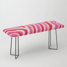 pink zebra stripes Bench