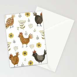 chicken floral Stationery Cards