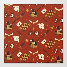 Wizarding Pattern Canvas Print