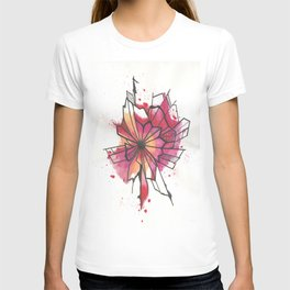 Pink and yellow Flower Explosion  T-shirt