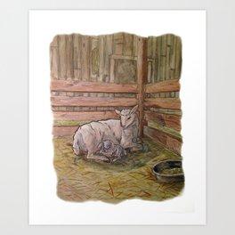 Popcorn the Lamb 1 Art Print