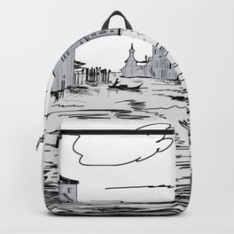 Venice City on the Water . Home Decor, Graphic Design Backpack