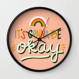 It's Gonna Be Okay – Retro Palette Wall Clock
