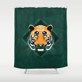 Tiger's day Shower Curtain