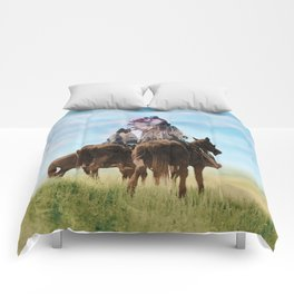 Cheyenne Warriors on the Great Plains - American Indians Comforters