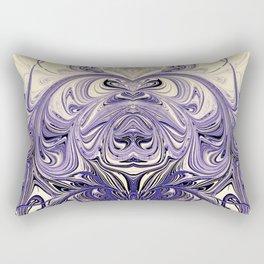 Blue Oil Gestalt Abstract III Art Rectangular Pillow