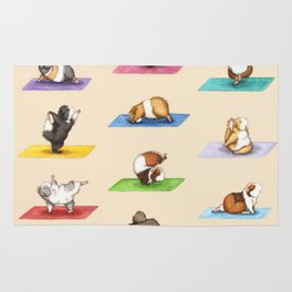 The Yoguineas - Yoga Guinea Pigs - Namast-hay! Rug