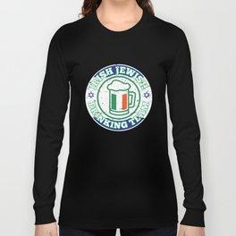 Irish Jewish Drinking Team With Israel Flag Patty's Long Sleeve T-shirt