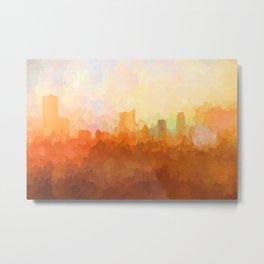 Austin, Texas Skyline - In the Clouds Metal Print