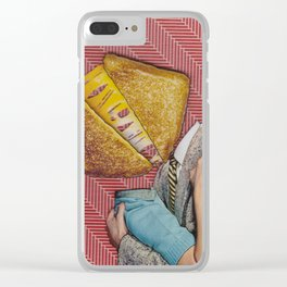 Grilled Cheese Love No. 28 Clear iPhone Case