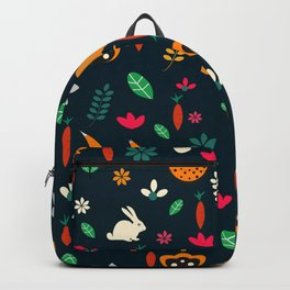 Cute little animals among flowers Backpack