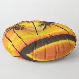 Hawaiian Sunset Floor Pillow