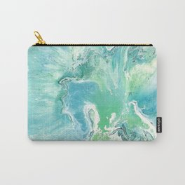 Breathe Blue Abstract Print Carry-All Pouch