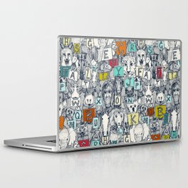 animal ABC indigo multi Laptop & iPad Skin