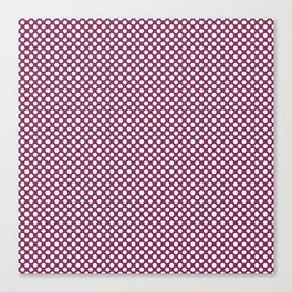 Boysenberry and White Polka Dots Canvas Print