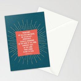 1 Corinthians 15:58 Stationery Cards