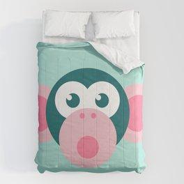 """""""Oops!"""" Stylized Monkey - Zoo series Comforters"""