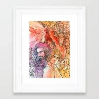 the hobbit Framed Art Prints featuring The Hobbit  by lorna-ka